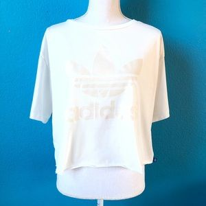 Adidas trefoil crop top